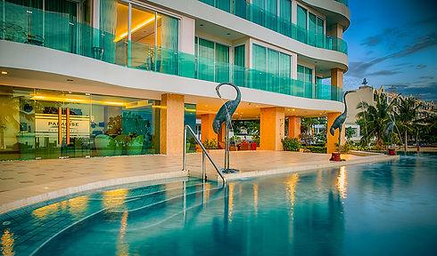 Beachfront seaview condo swimming pool