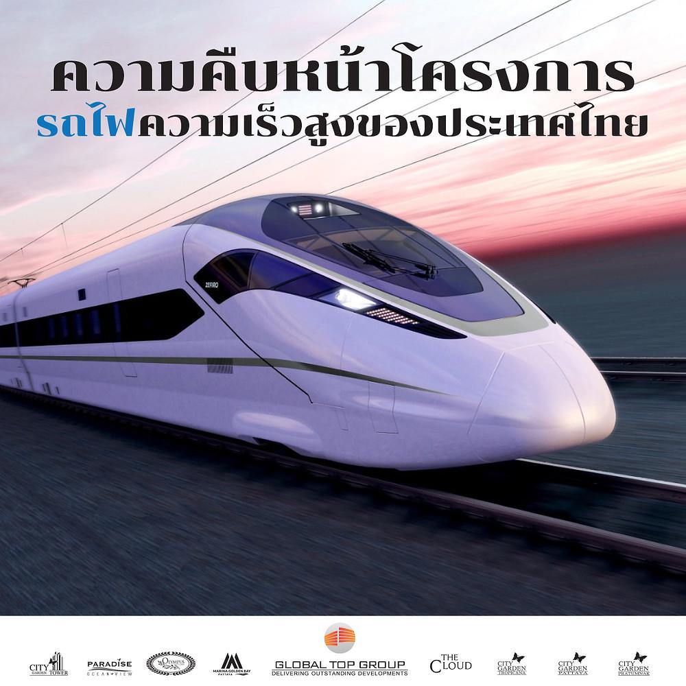 ความคืบหน้าโครงการรถไฟความเร็วสูงของประเทศไทย
