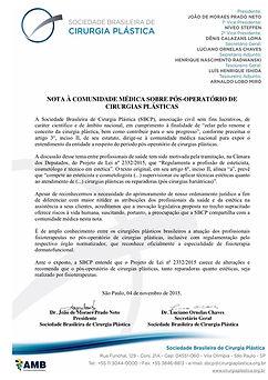 NOTA_COMUNIDADE_MEDICA_SOBRE_POSOPERATOR