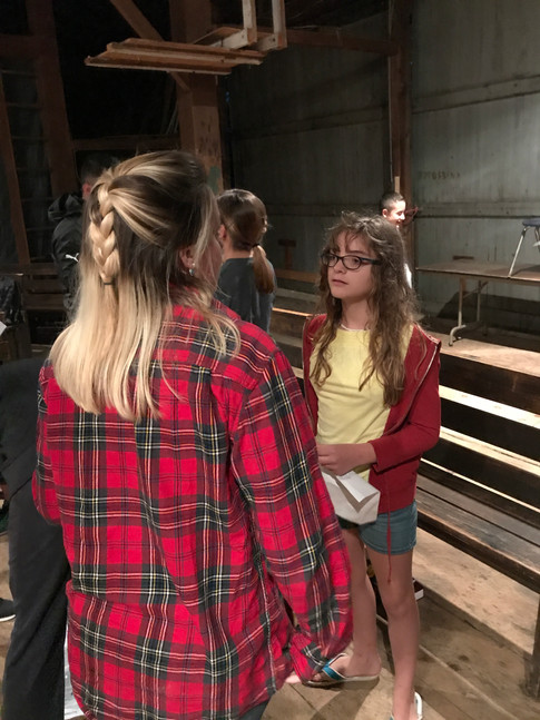 Worship time in PSC's Barn