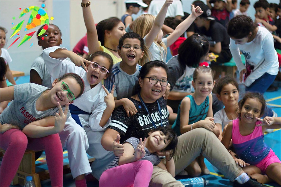 Summer camp kids having fun, enjoyment, happy