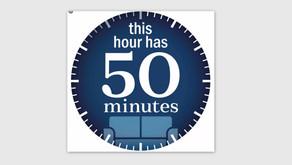 Η ώρα των 50 λεπτών...