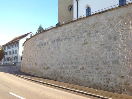 Instandsetzung Stützmauer evang. ref. Kirche Andelfingen