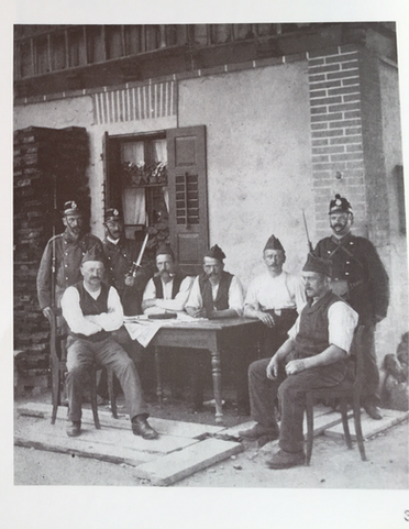 historisches Bild der Fassade während des 1. Weltkrieges