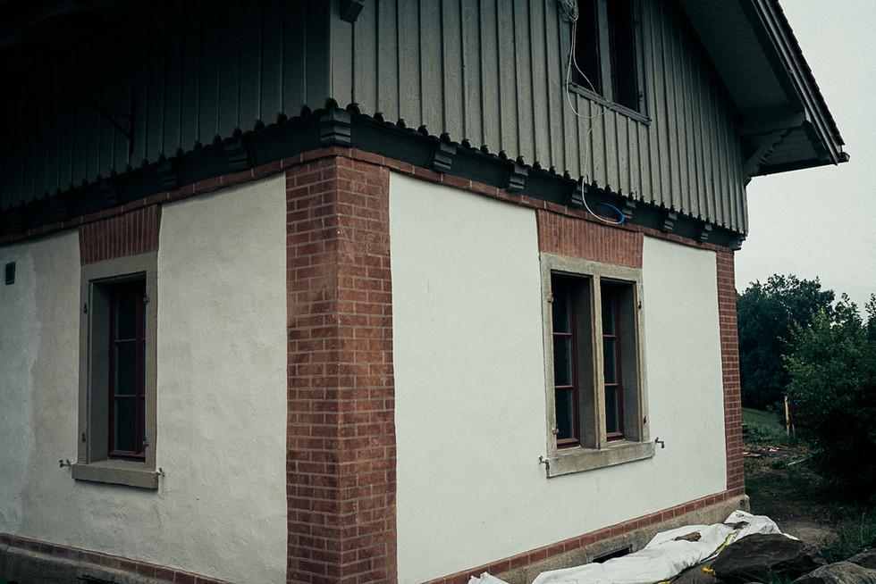 Ansicht der fertig rekonstruirten Fassade