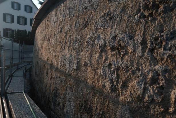 Stützmauer Kirche Andelfingen