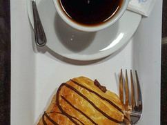 Chocolate Croissant with Coffee