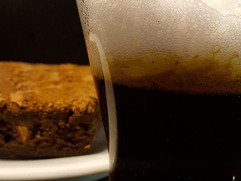 Traditional Macchiato and Brownie