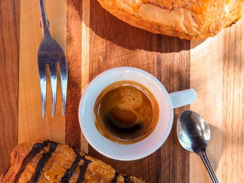 Ham & Cheese Croissant with Espresso