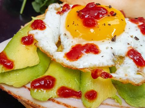 Turkey and Avocado Breakfast Sandwich