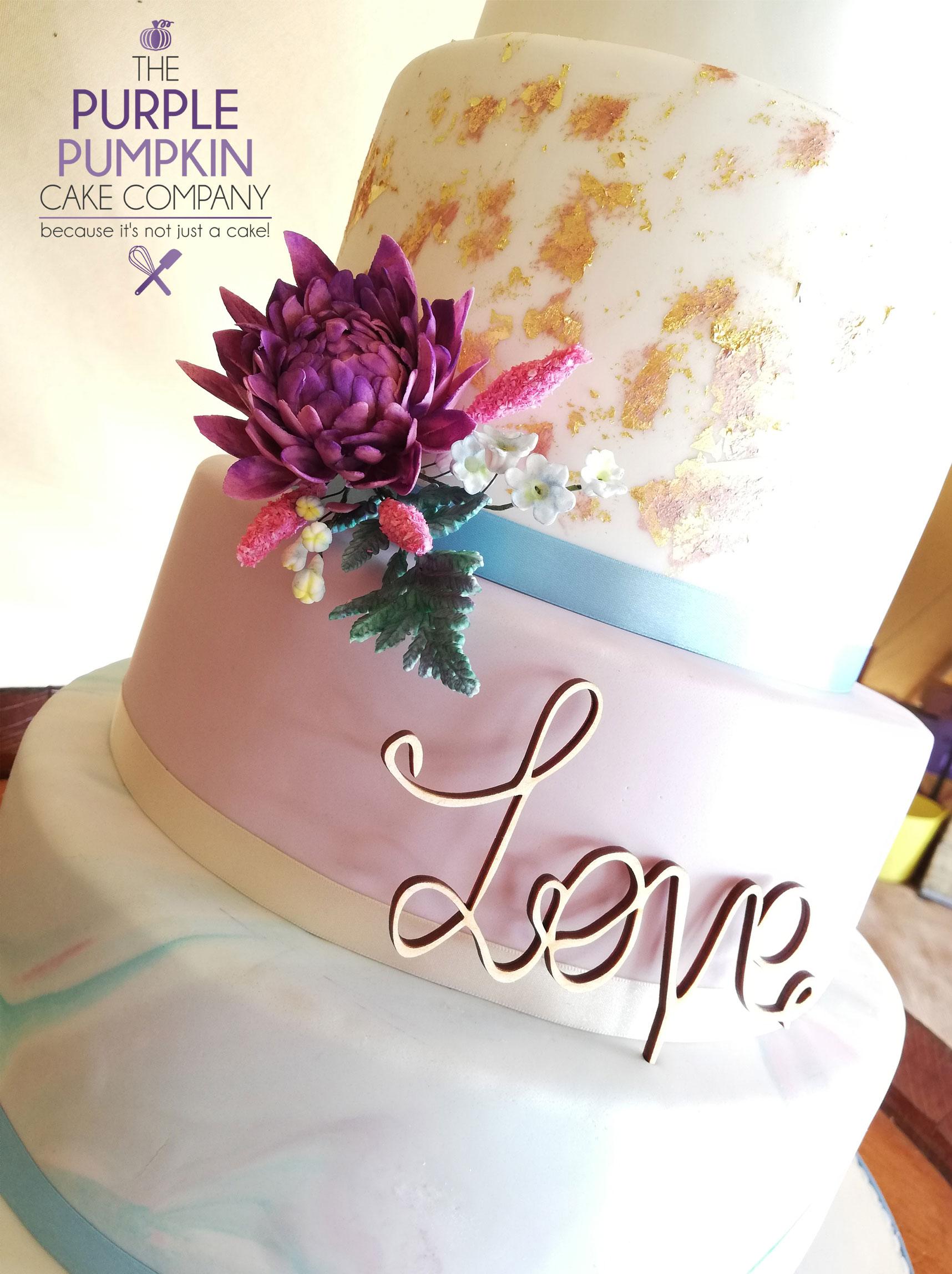 Teepee boho wedding cake