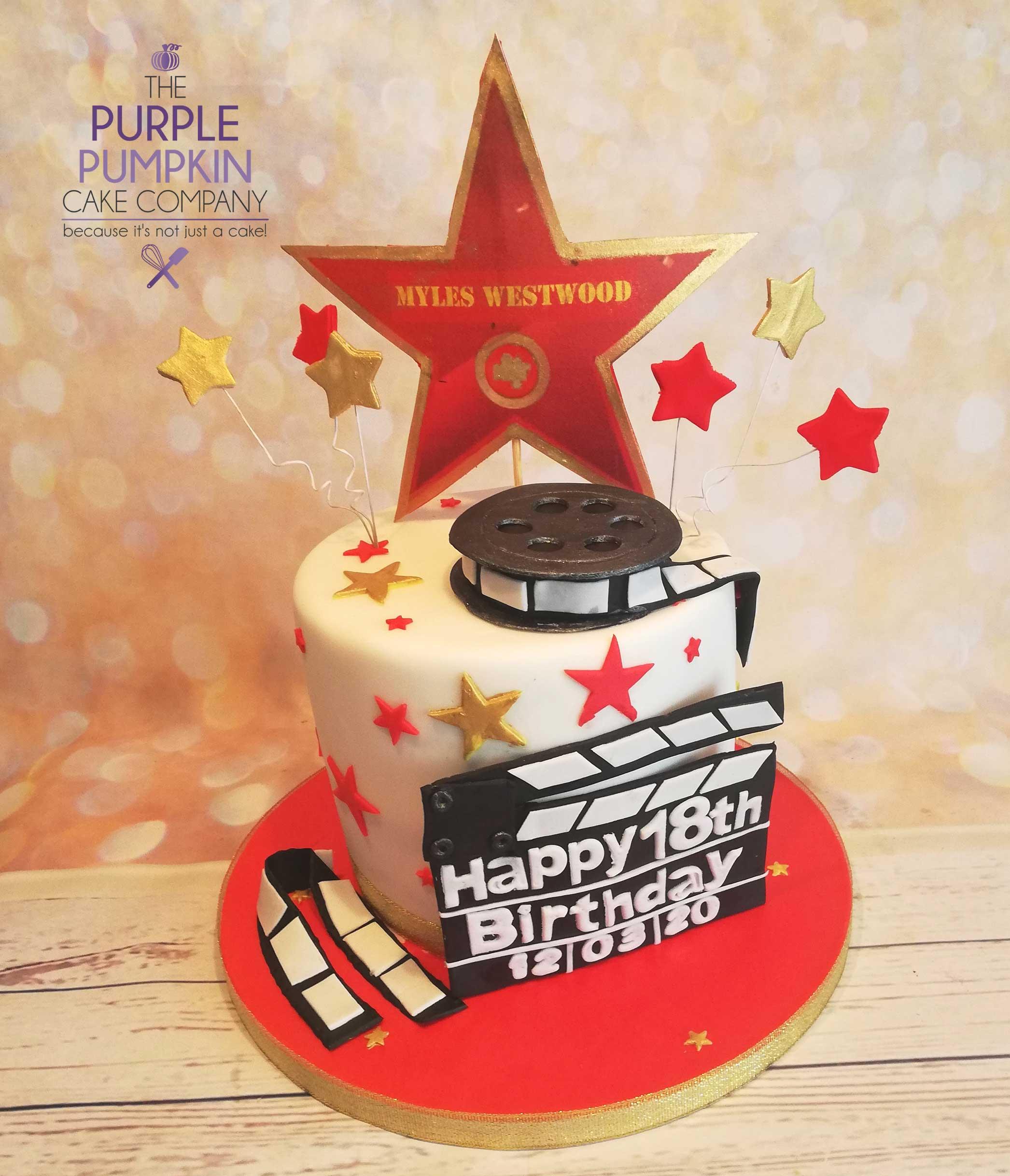 Film star cake
