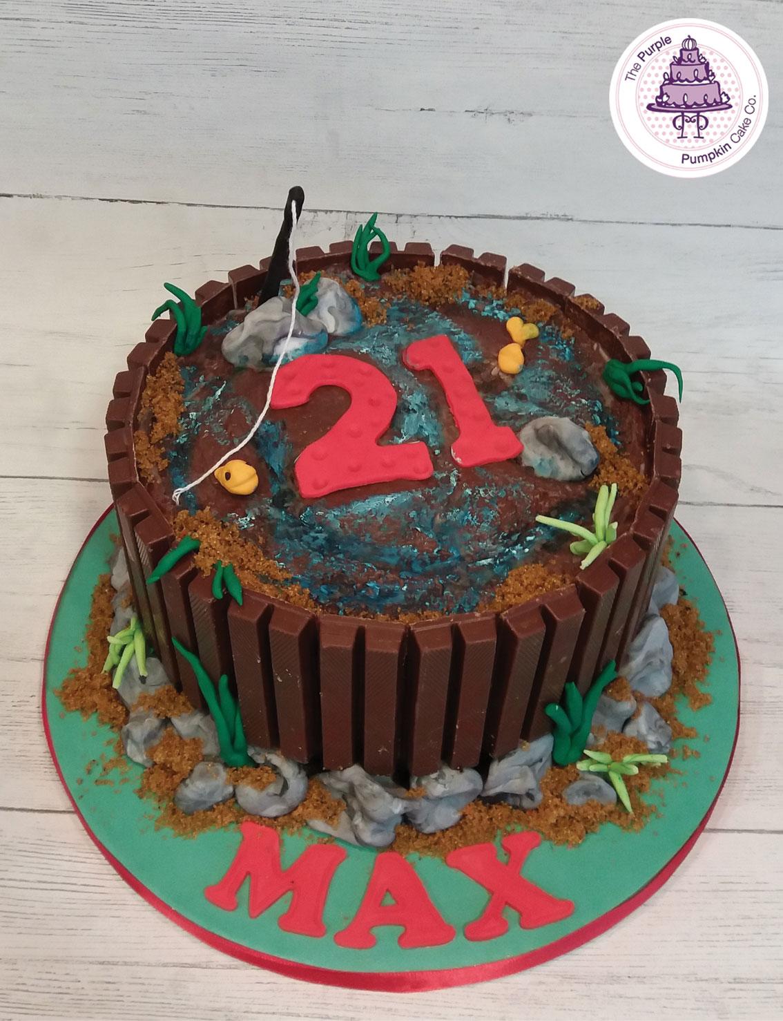 Kitkat fishing cake