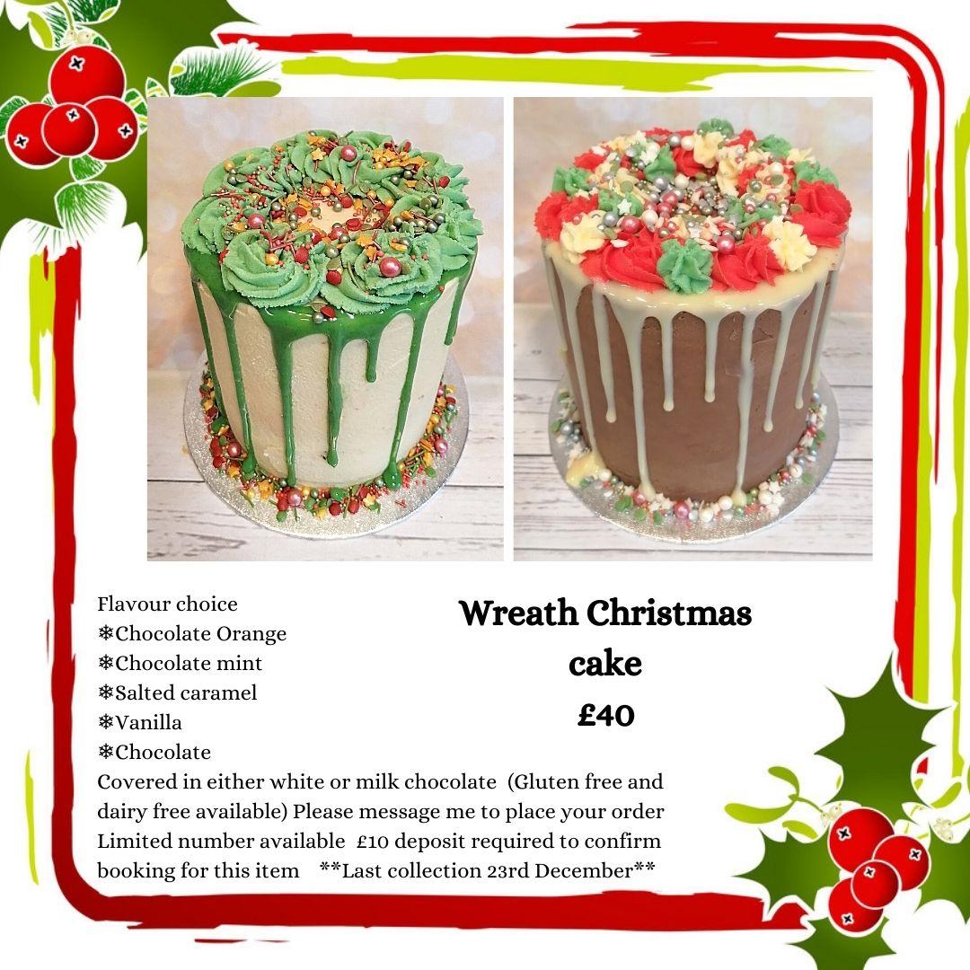 Wreath Christmas cakes