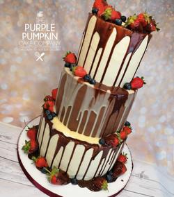 Three tier chocolate drip cake