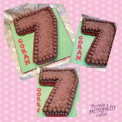 Choctastic number 7 cake
