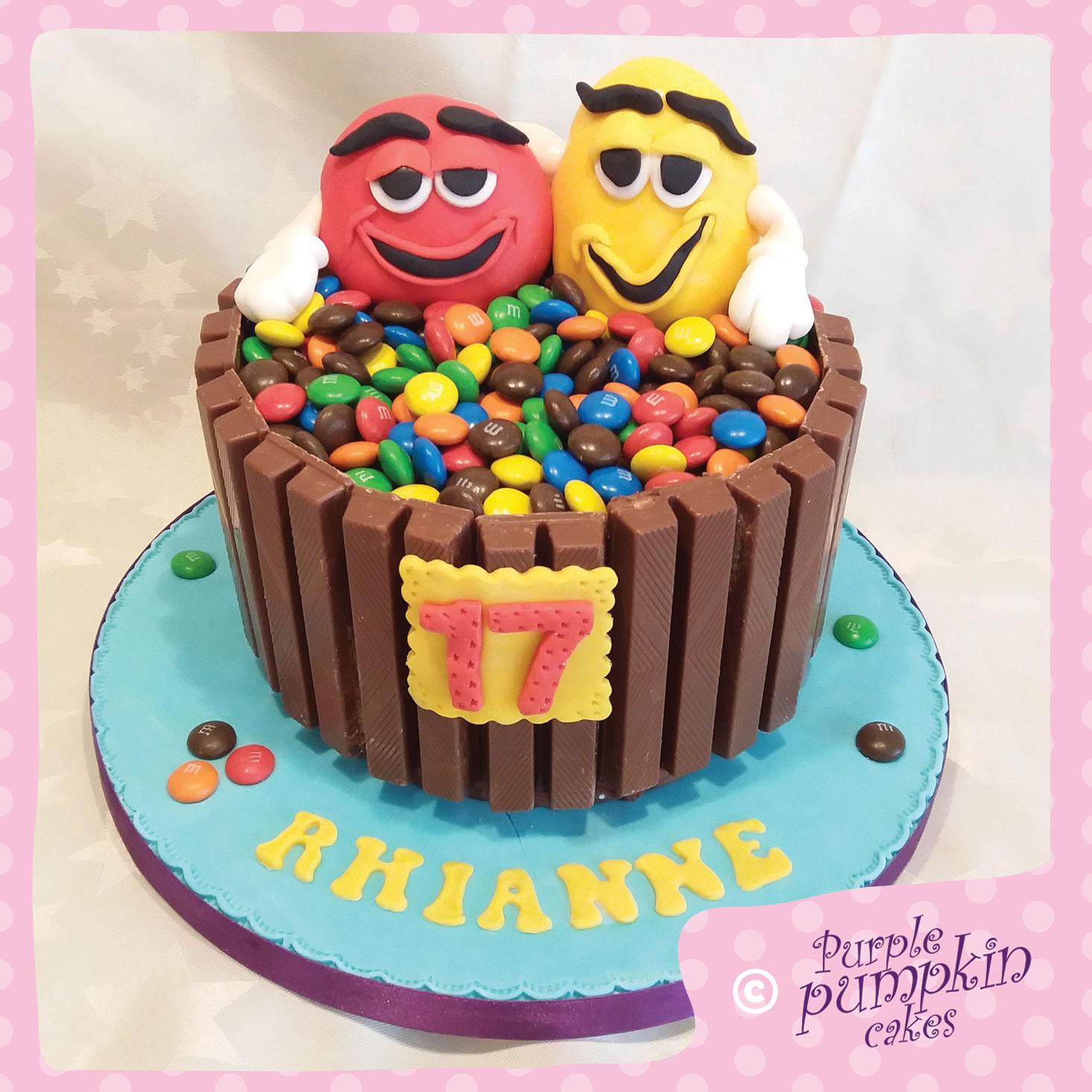m&m 17 cake