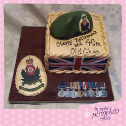 retirement army cake