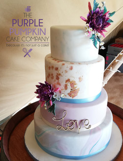 Teepee love wedding cake