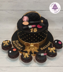 black make up cake
