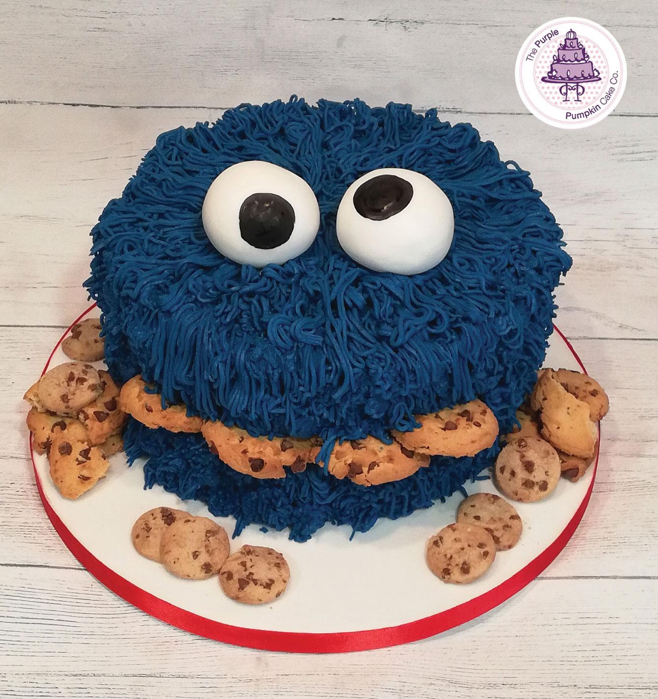 cookie monster cake smash