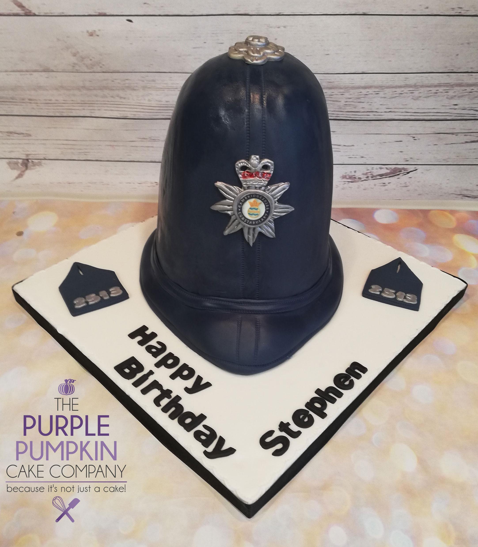 Policemans Helmet Lumberjack Cake
