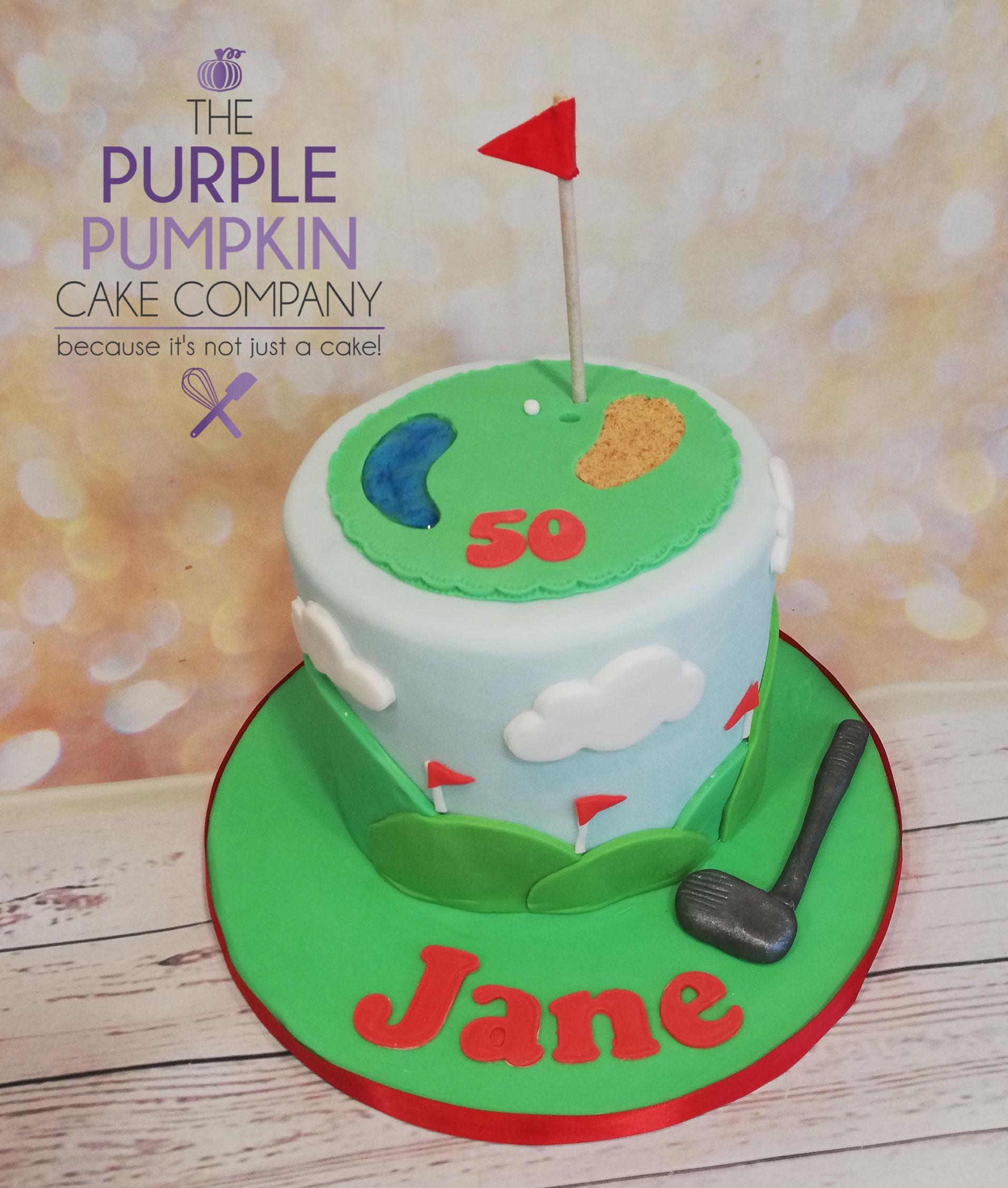 Lady golfer cake