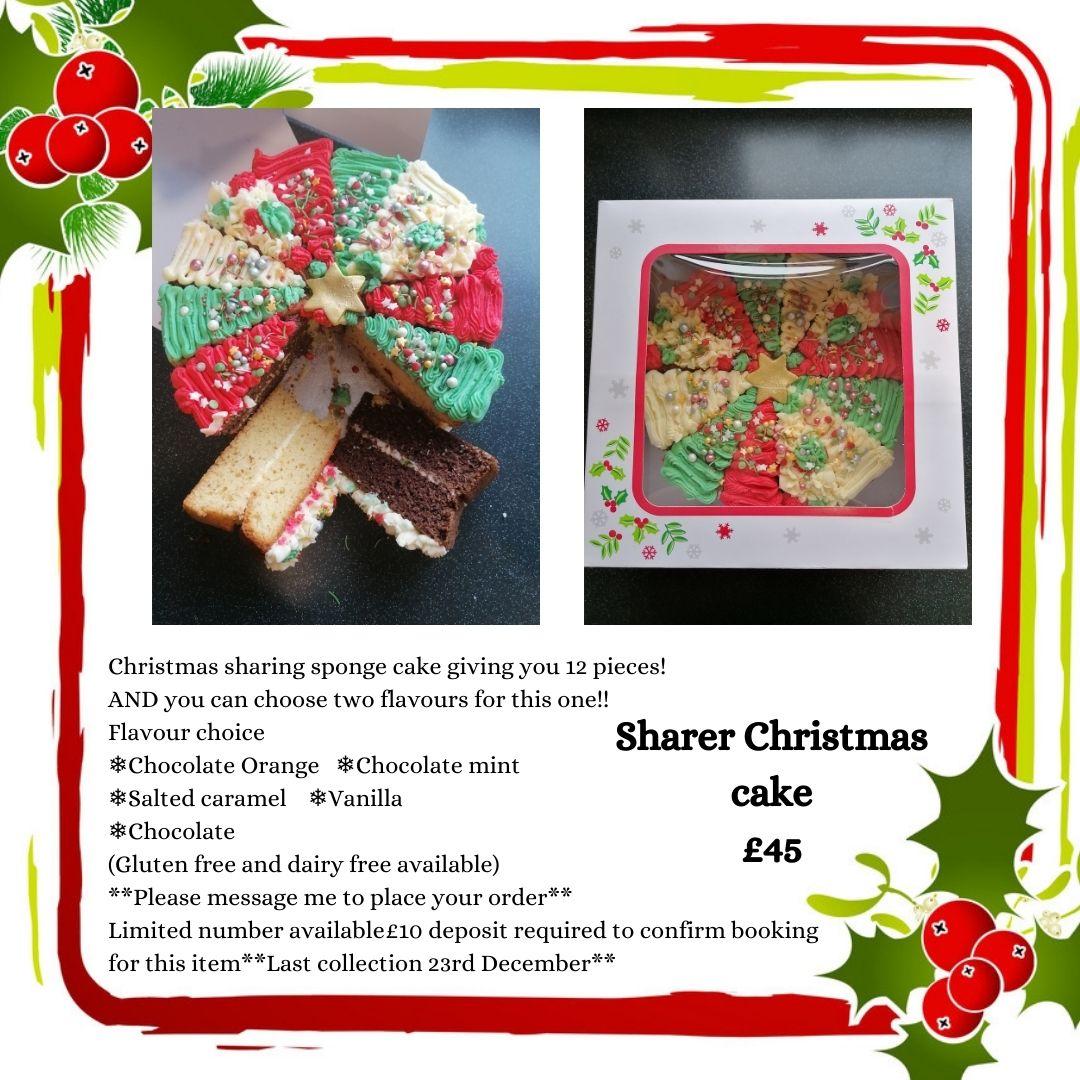 Sharer platter Christmas cake
