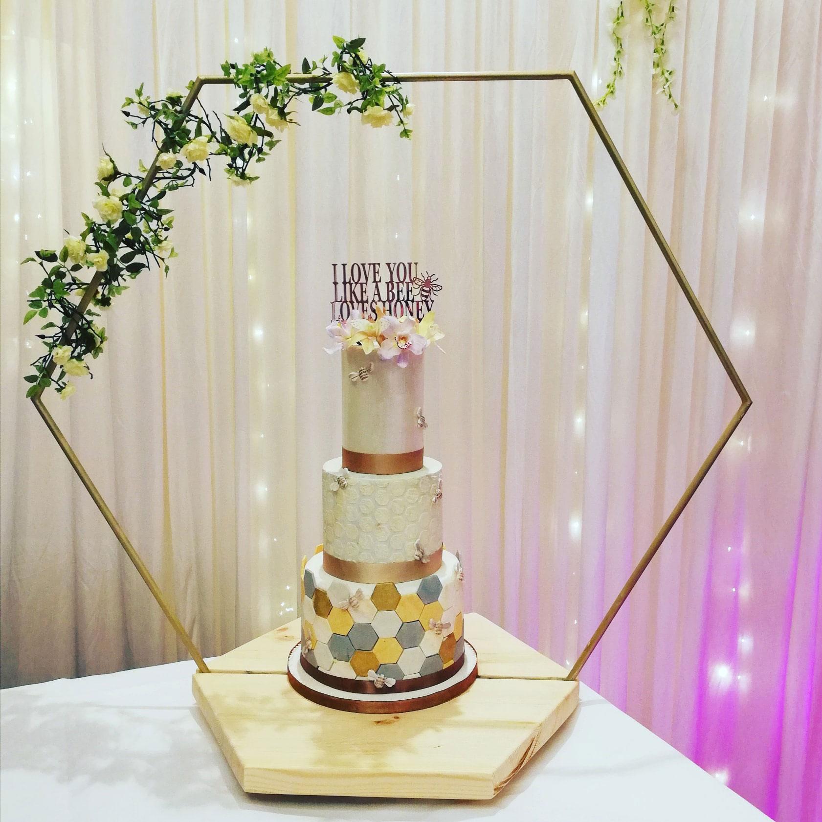 Bee love cake Holiday Inn Peterborough