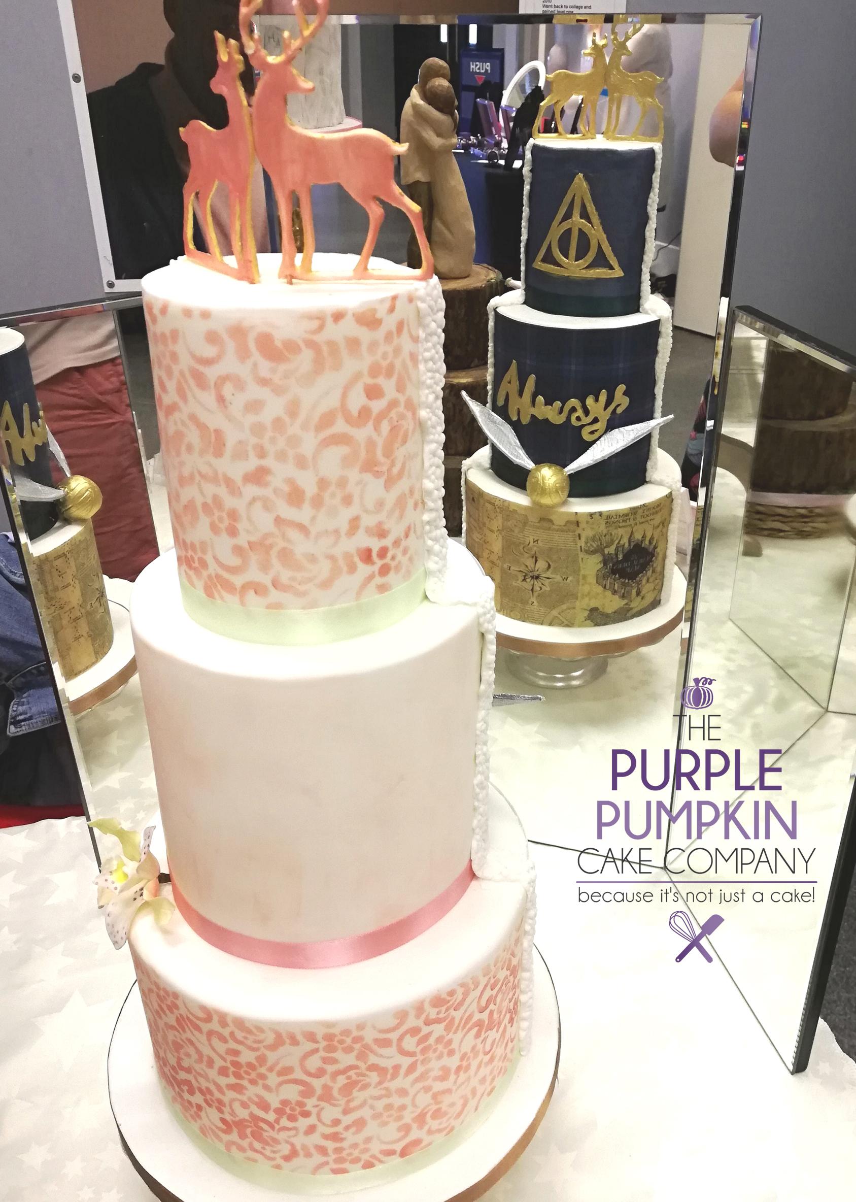 Harry Potter Wedding Cake.Wedding Cakes Stamford The Purple Pumpkin Cake Co