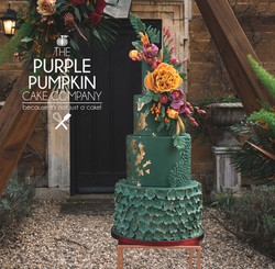 Emerald dreams wedding cake design