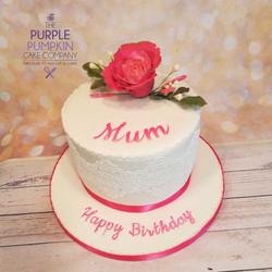 Pink rose  lace cake