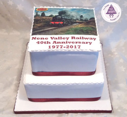 Nene valley 40th anniversary cake
