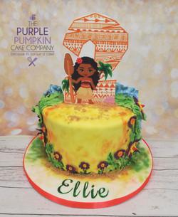 Hawaiian themed cake