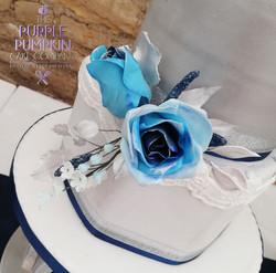 Blue Rose three tier