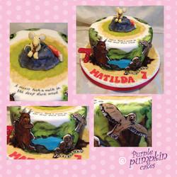 Gruffalo hand painted cake