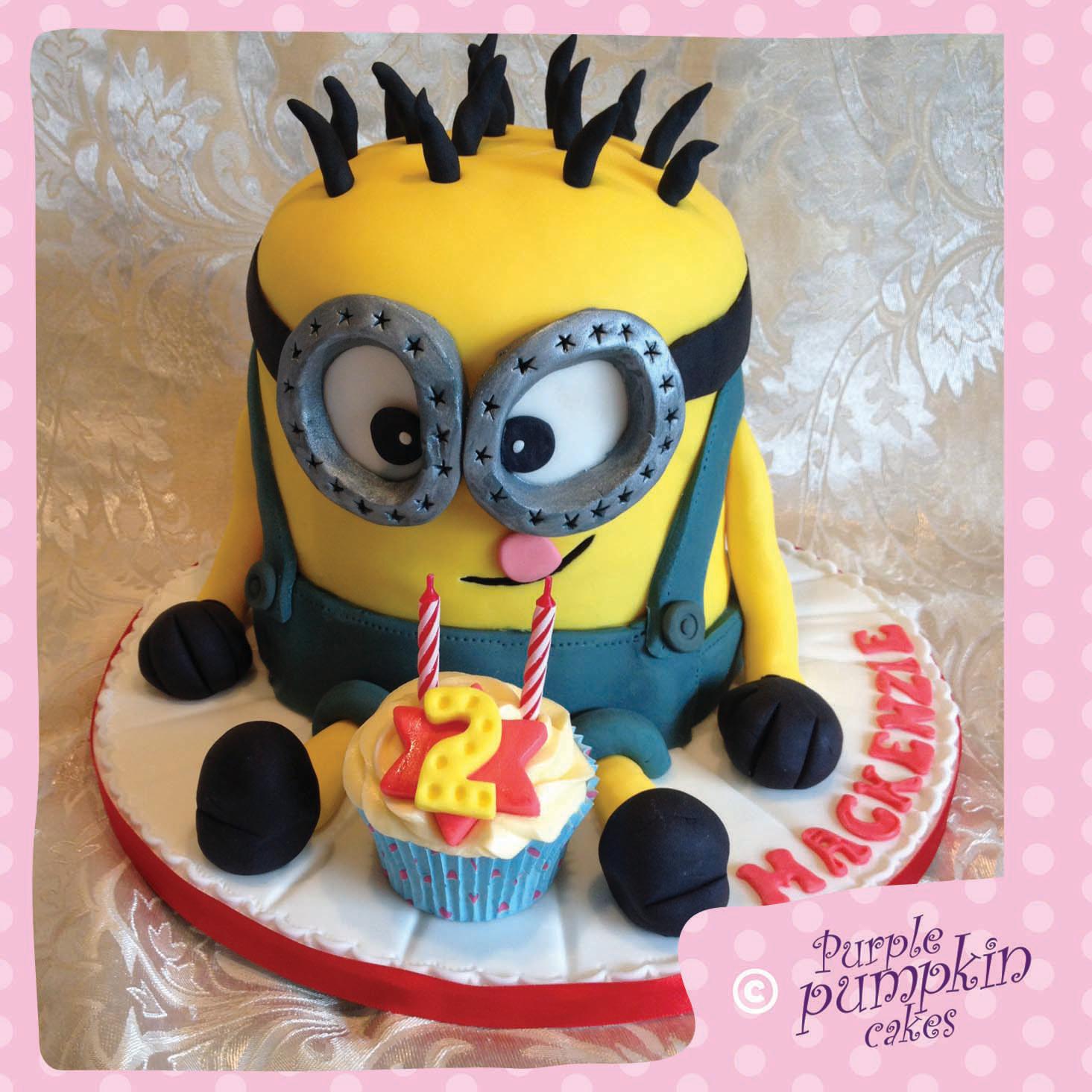 Large Minion Birthday Cake