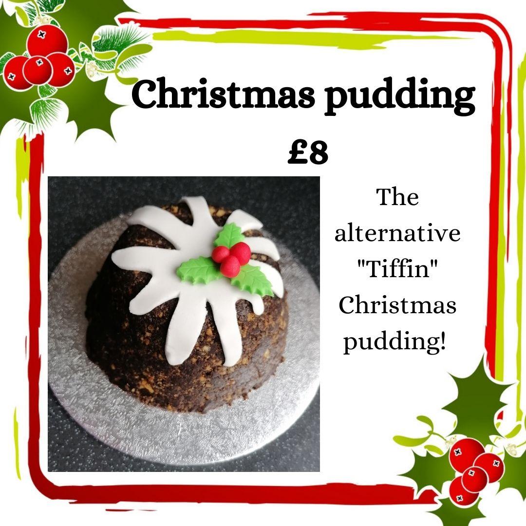 Alternative tiffin Christmas pudding