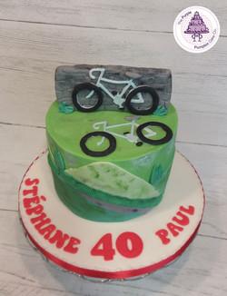 Bikes 6 inch cake