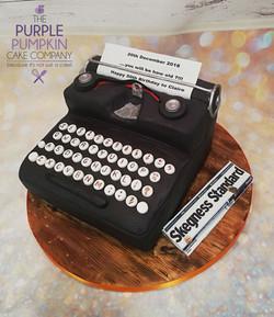 Typewriter cake