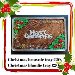 Christmas brownies/ blondies