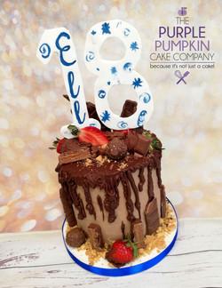 Blue 18 drip cake