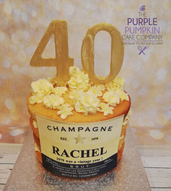 Gluten free champagne themed