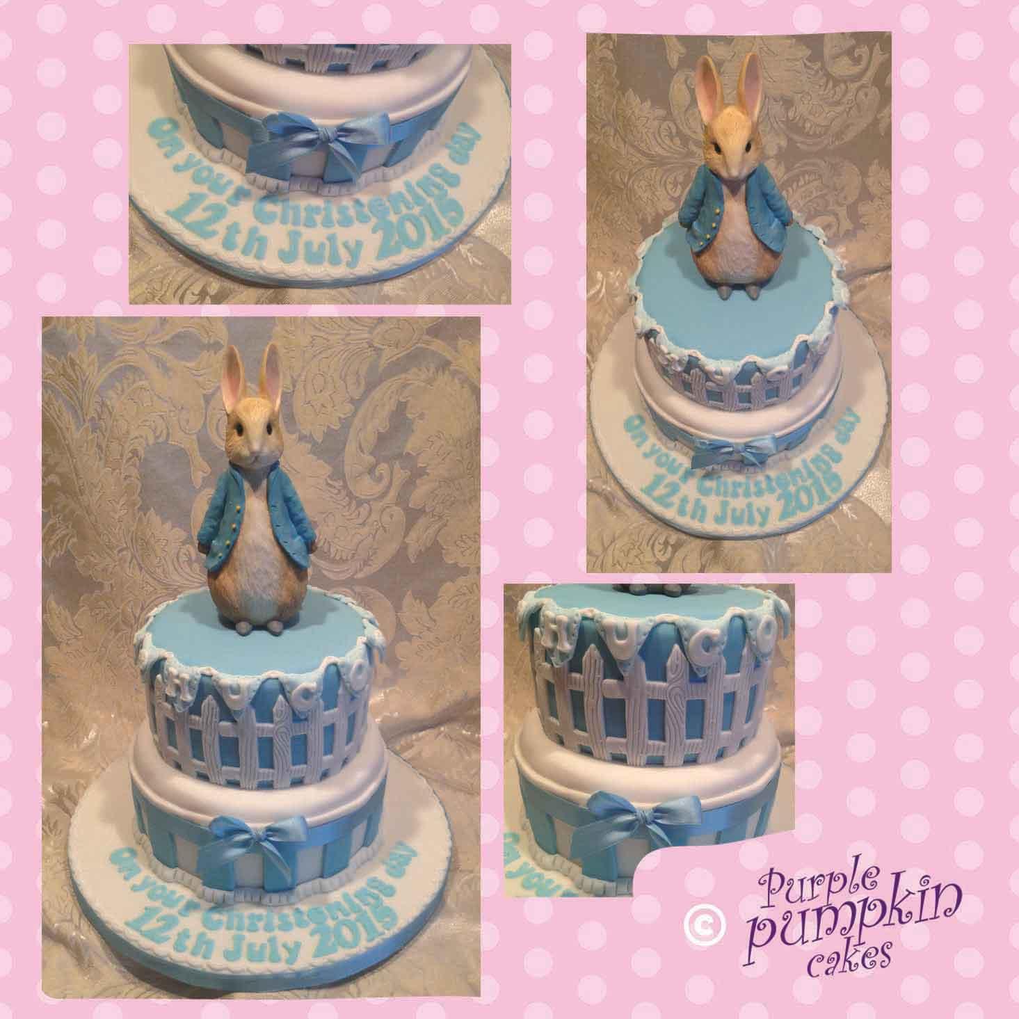 Peter Rabbit themed christening