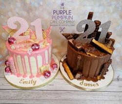 Twin drip cakes