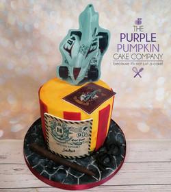 Harry potter, rocket car cake