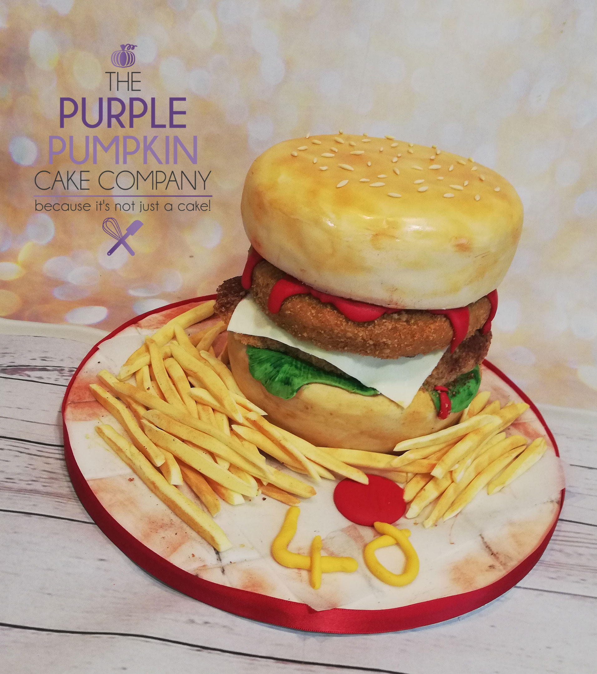 KFC chicken burger cake