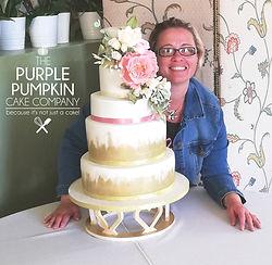 Beautiful wedding cake at Burgley House Stamford