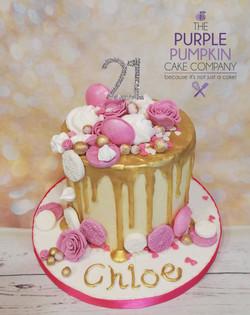 Pink drip cake 21