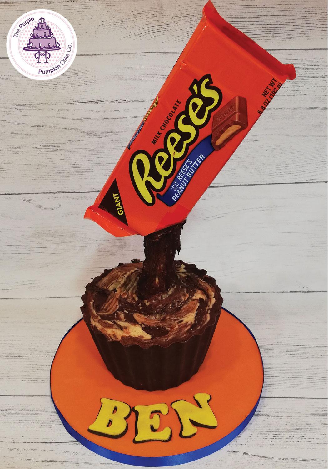 reeses gravity cake